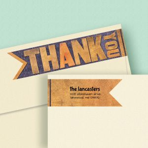 Bold Thank You Wrap Around Address Labels