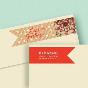 Christmas Carton Wrap Around Address Labels (4 Designs)