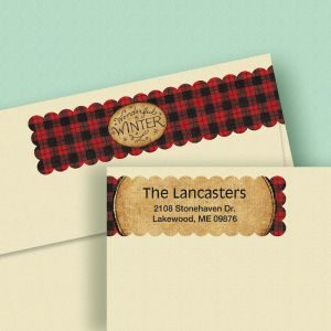 Winter Red Wrap Around Address Labels (4 Designs)