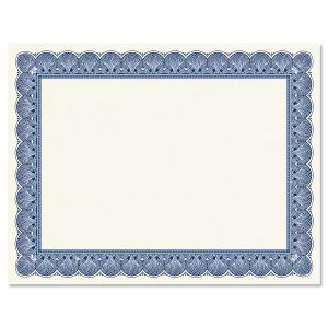 Elite Blue Certificate on White Parchment