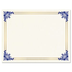 Empire Blue Certificate on White Parchment