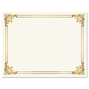 Empire Gold Certificate on White Parchment