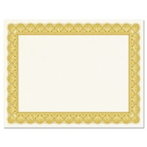 Gold Certificate on White Parchment
