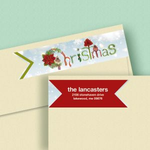 Words of the Season Wrap Around Address Labels (4 Designs)