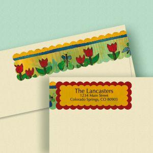 Lovely Garden Wrap Around Address Labels (4 Designs)