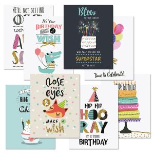 Birthday Fun Note Cards Value Pack