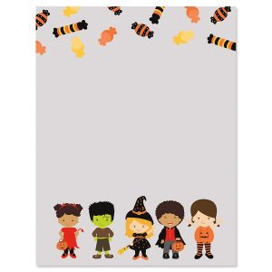 Tricks and Treats Halloween Letter Papers