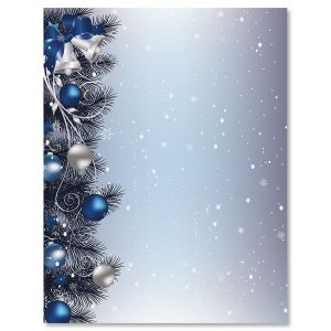 Silver Bells Christmas Letter Papers