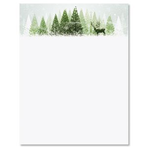 Winter Wonderland Christmas Letter Papers