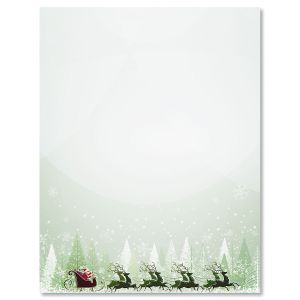 Santa's on His Way Christmas Letter Papers