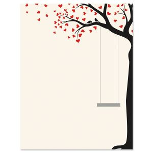 Heart Tree Swing Valentine's Day Letter Papers