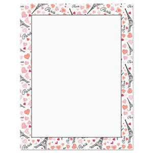 Paris Hearts Valentine's Day Letter Papers
