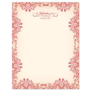 Vintage Valentines Valentine's Day Letter Papers