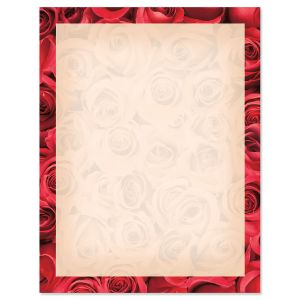 Bed of Roses on Cream Valentine's Day Letter Papers