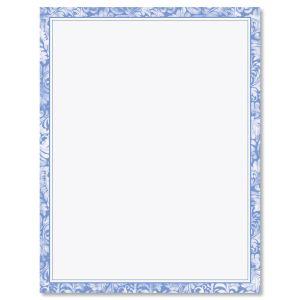 Blue Allurung Boarder Easter Letter Papers