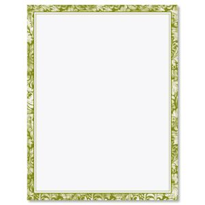Green Allurung Boarder Easter Letter Papers