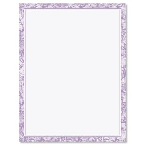 Purple Allurung Boarder Easter Letter Papers