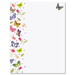 Butterflies Easter Letter Papers