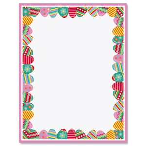 Pink Frame Easter Eggs Easter Letter Papers