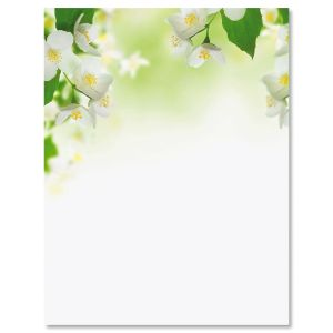 White Florals Easter Letter Papers