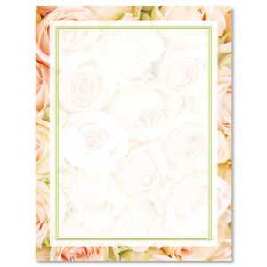 Pale Pink Roses Easter Letter Papers