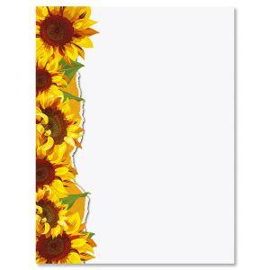 Sunflowers Easter Letter Papers