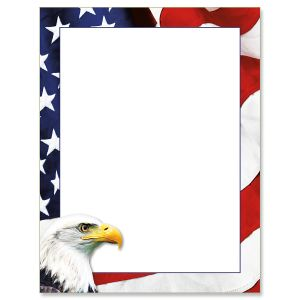 American Eagle Patriotic Letter Papers