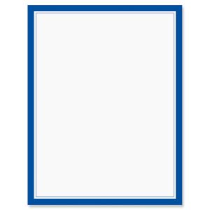Blue Frame Patriotic Letter Papers