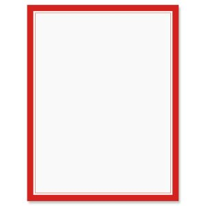 Red Frame Patriotic Letter Papers
