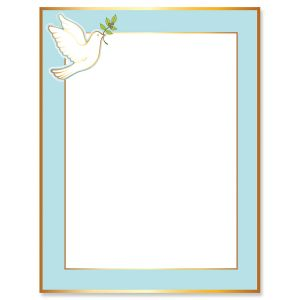 Dove Frame Faith Letter Papers