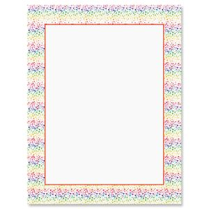 Spatter Rainbow Letter Papers