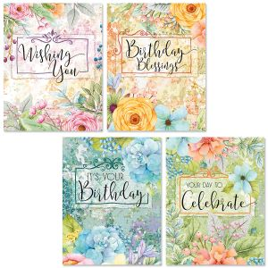 Birthday Blessings Note Cards