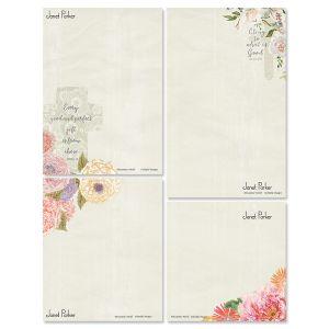 Faithful Florals Personalized Notepad Set