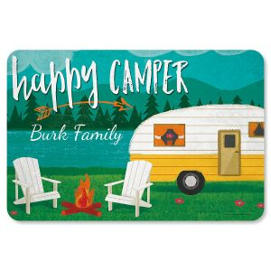 Happy Camper Personalized Welcome Mat