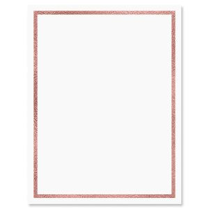 Rose Gold Foil Wash Letter Papers