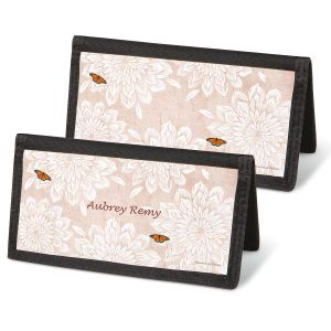 Natural Butterfly Checkbook Covers