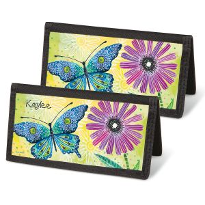 Floral Flight Checkbook Covers