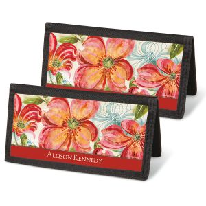 Floral Daydream Checkbook Covers