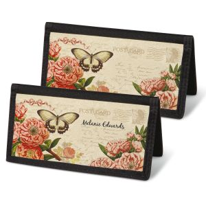 Parisian Postcard Checkbook Covers