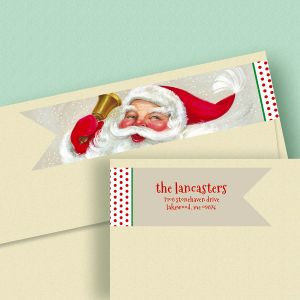 Christmas Ringing Wrap Around Address Labels