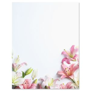 Lilies Letter Papers