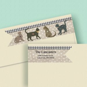 Cat Love Wrap Around Connect Diecut Address Labels