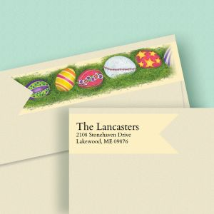Easter Eggs Wrap Around Diecut Address Labels