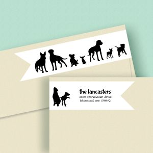 Dog Buddies Wrap Around Address Labels