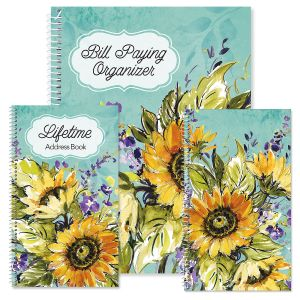 Watercolor Sunflower Organizers