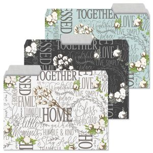 Farmhouse Bolls File Folders