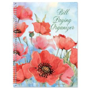 Spring Poppies Bill Paying Organizer