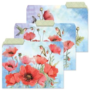 Spring Poppies File Folders