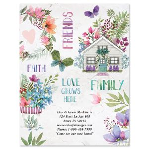 Flourish New Address Postcards