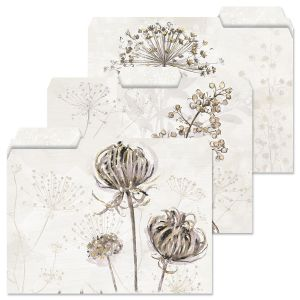 Dried Florals File Folders